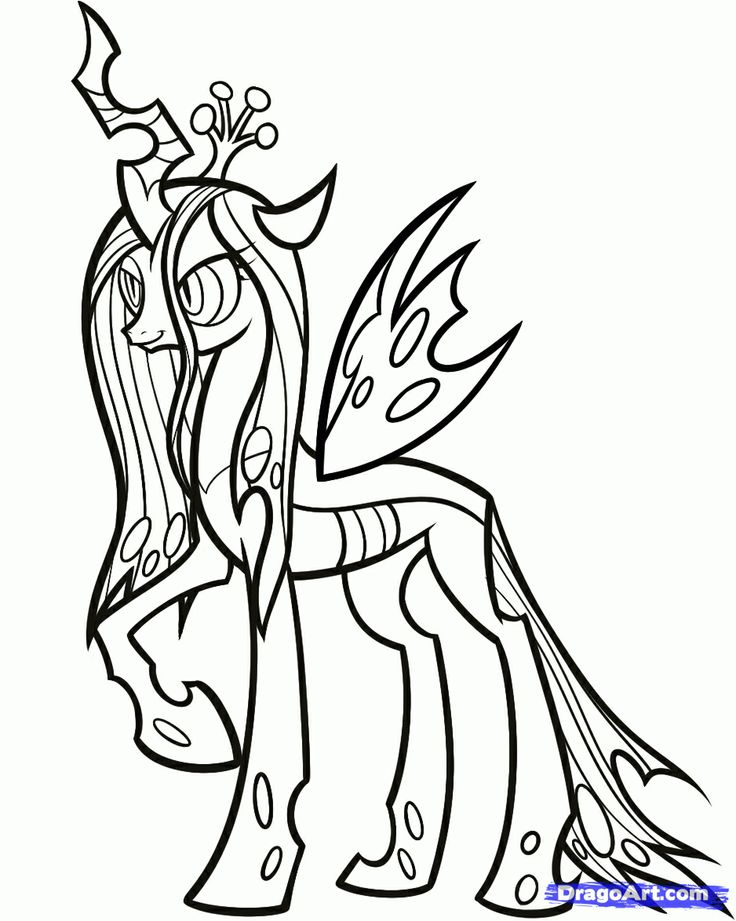 Queen Chrysalis coloring #12, Download drawings