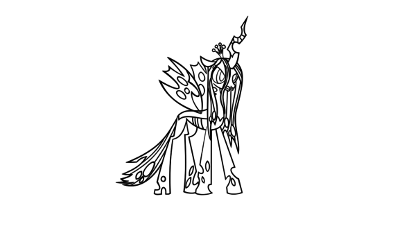 Queen chrysalis coloring download queen chrysalis coloring for Queen chrysalis coloring pages