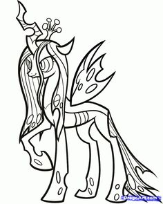 Queen Chrysalis coloring #20, Download drawings
