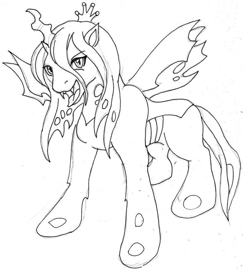 Queen Chrysalis coloring #5, Download drawings