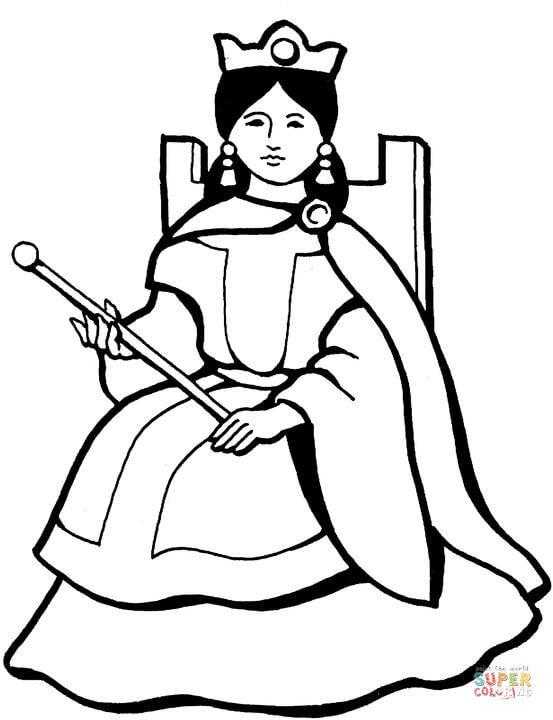 Queen coloring #2, Download drawings
