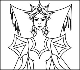 Queen coloring #10, Download drawings