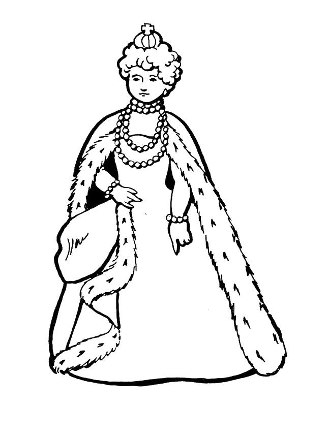 Queen coloring #9, Download drawings