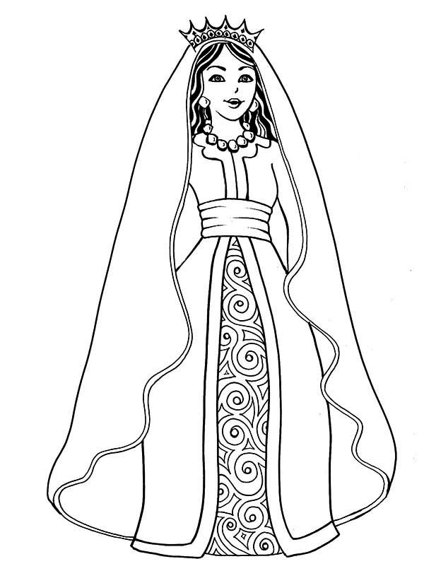 Queen coloring #5, Download drawings