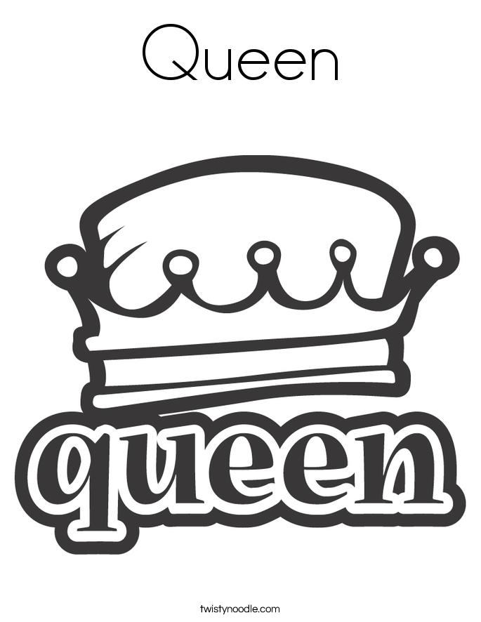 Queen coloring #13, Download drawings