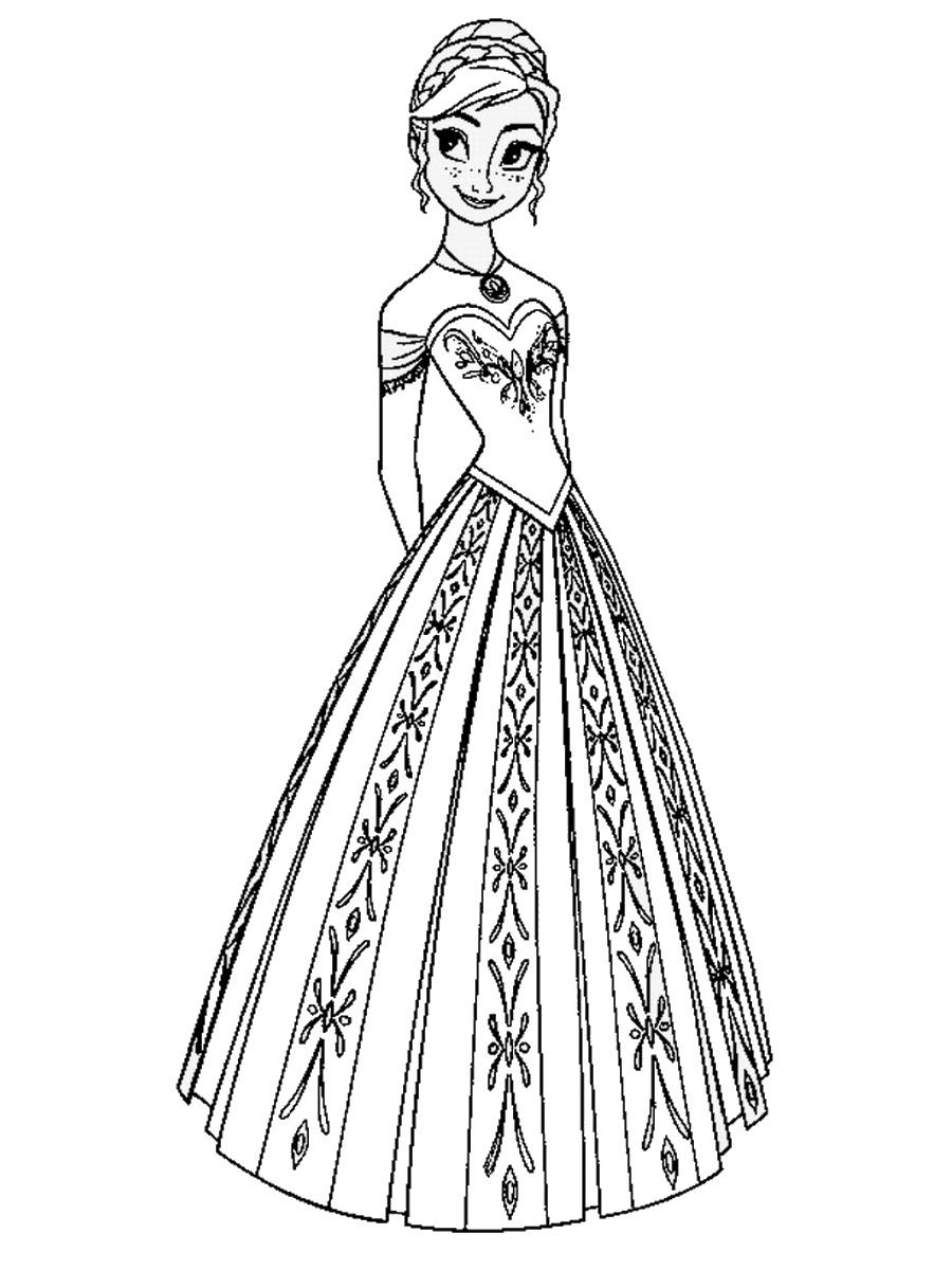 Queen coloring #6, Download drawings