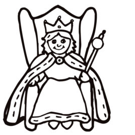 Queen coloring #16, Download drawings