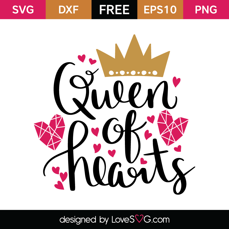 queen of hearts svg #358, Download drawings