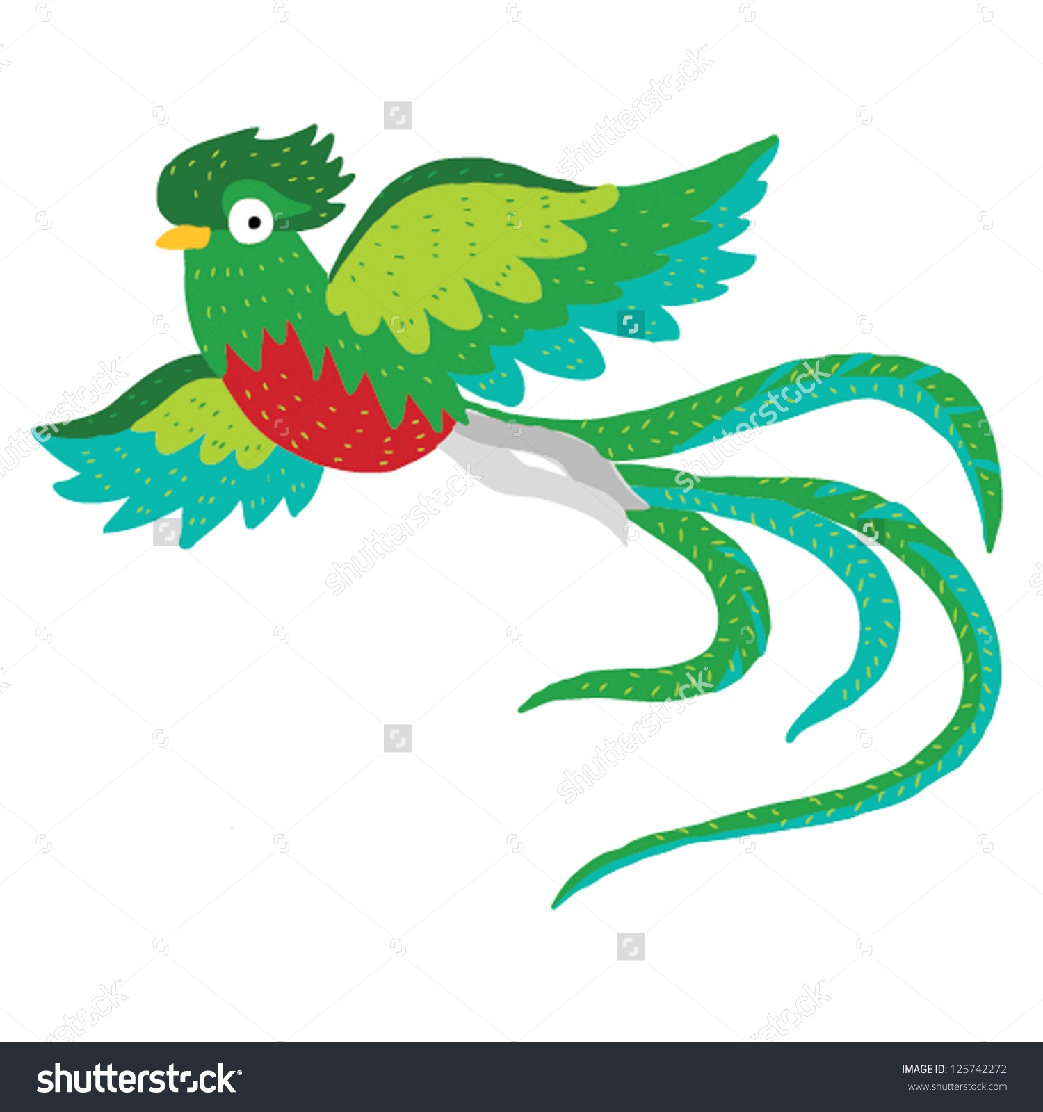 Quetzal  clipart #1, Download drawings