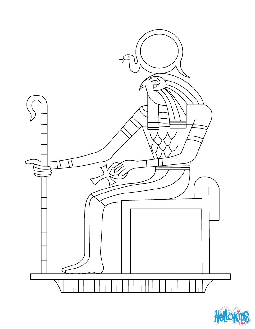 Ra (Deity) coloring #3, Download drawings