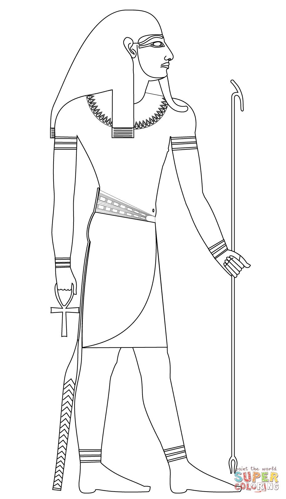 Sekhmet (Deity) coloring #4, Download drawings