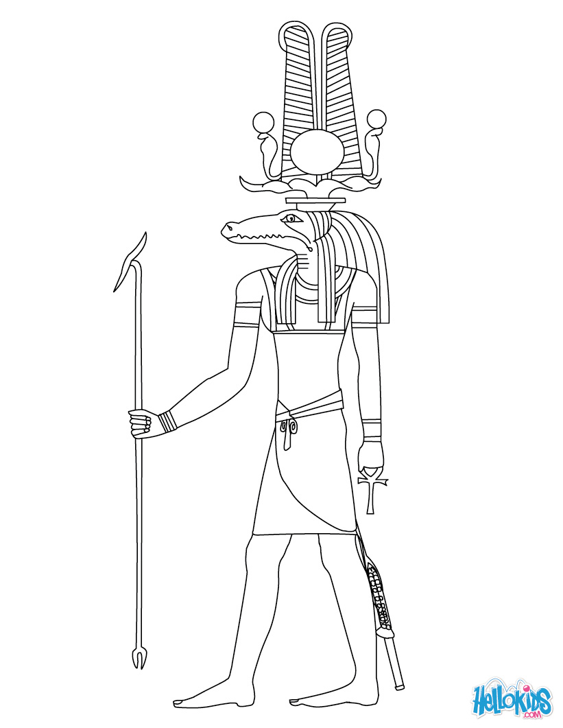 Sekhmet (Deity) coloring #14, Download drawings