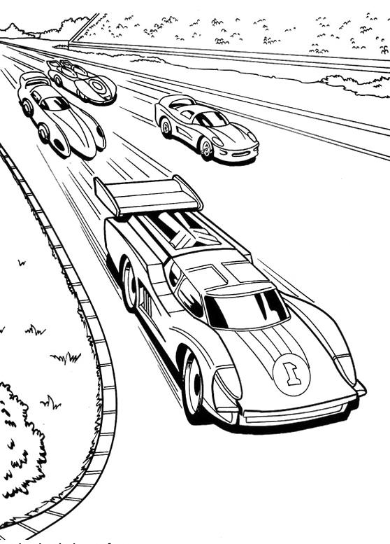 Race coloring #9, Download drawings