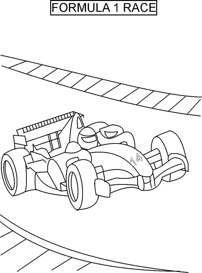 Race coloring #14, Download drawings