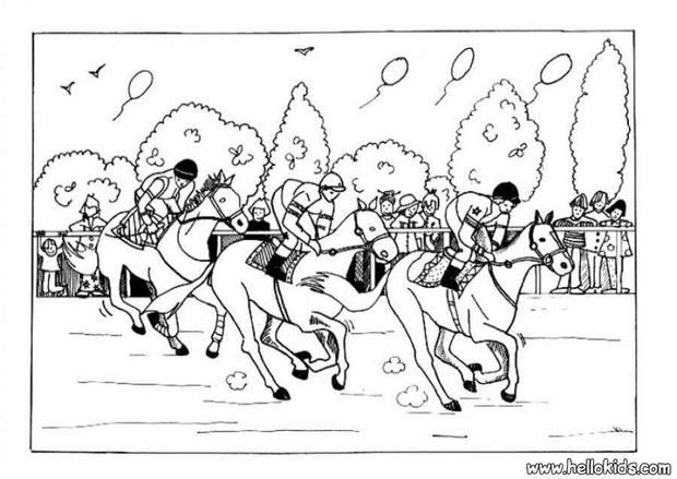 Race coloring #6, Download drawings
