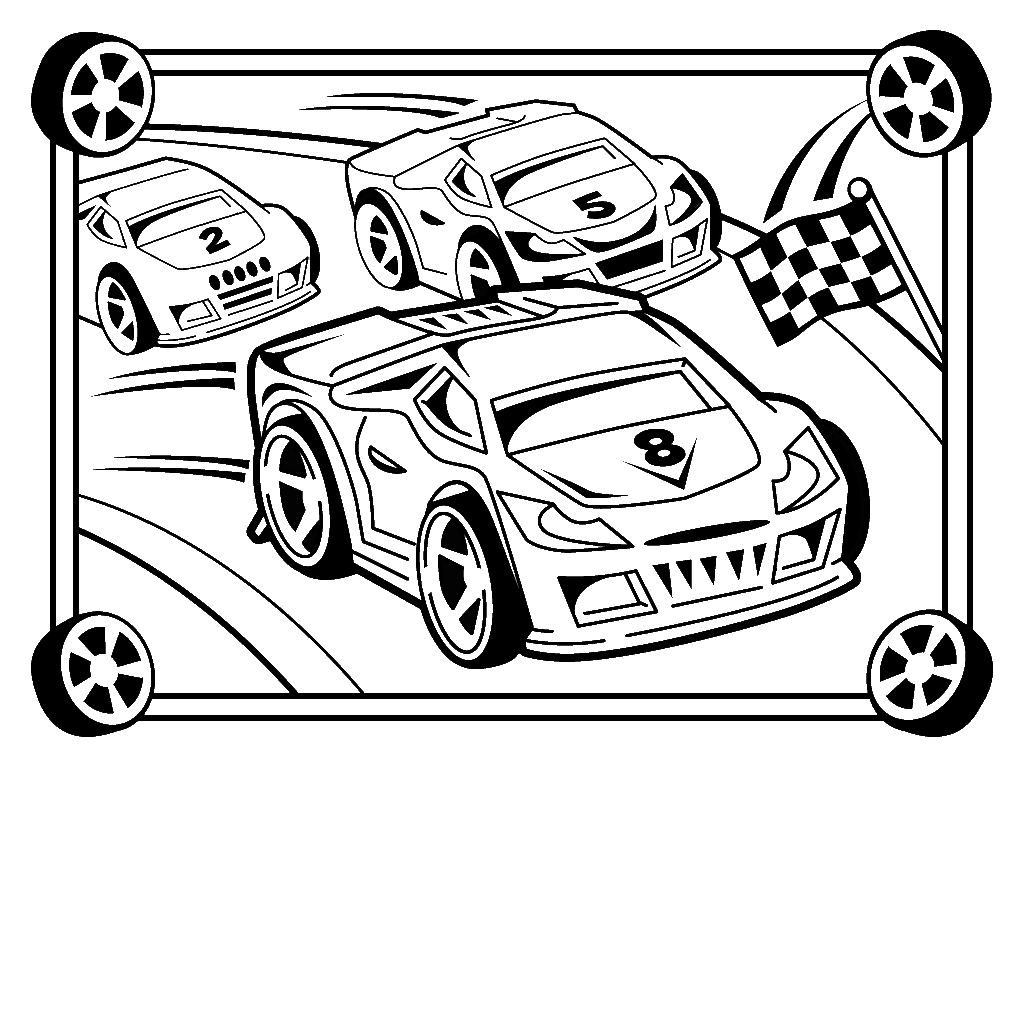 Race coloring #8, Download drawings