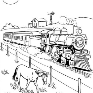 Railroad coloring download railroad coloring for Printable steam train coloring pages