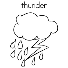 Rainfall coloring #13, Download drawings