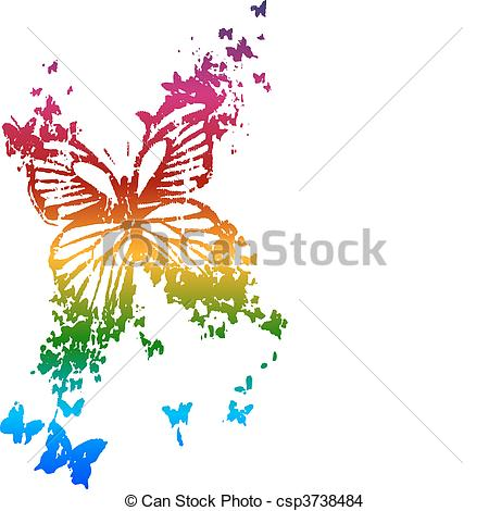 Rainbow Butterfly clipart #7, Download drawings