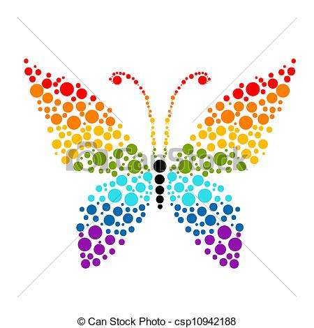 Rainbow Butterfly clipart #3, Download drawings