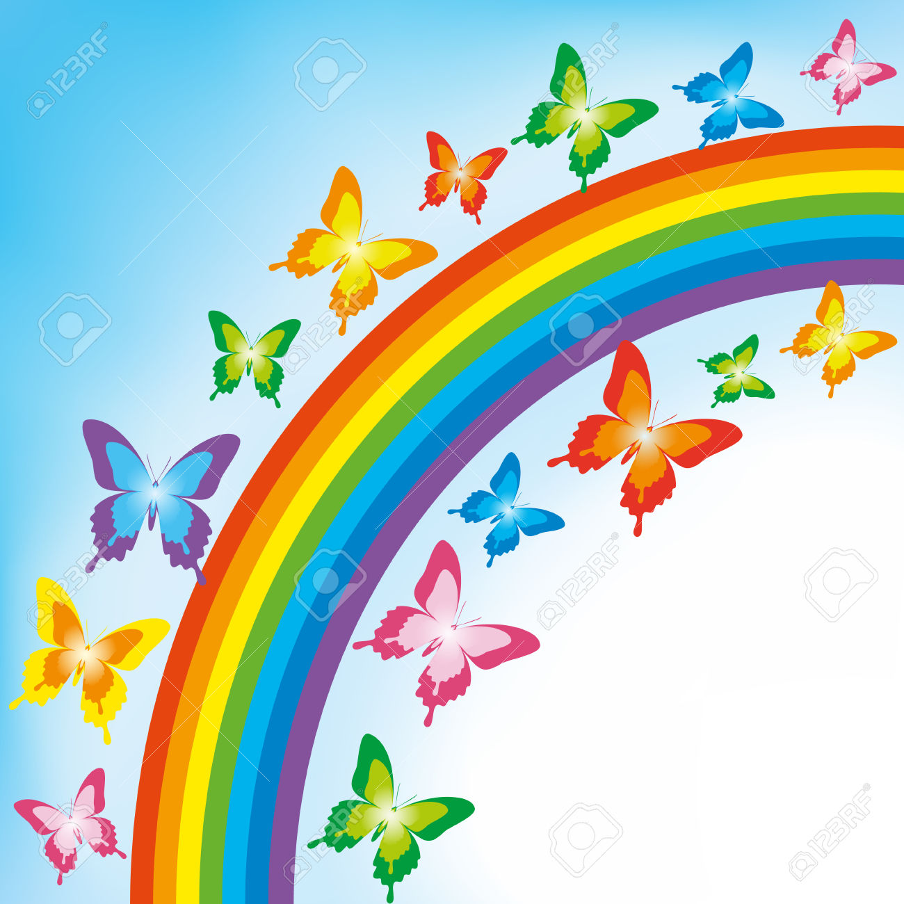 Rainbow Butterfly clipart #13, Download drawings
