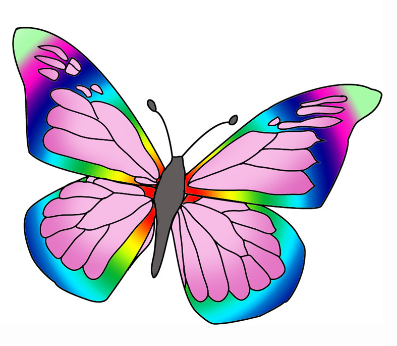 Rainbow Butterfly clipart #14, Download drawings