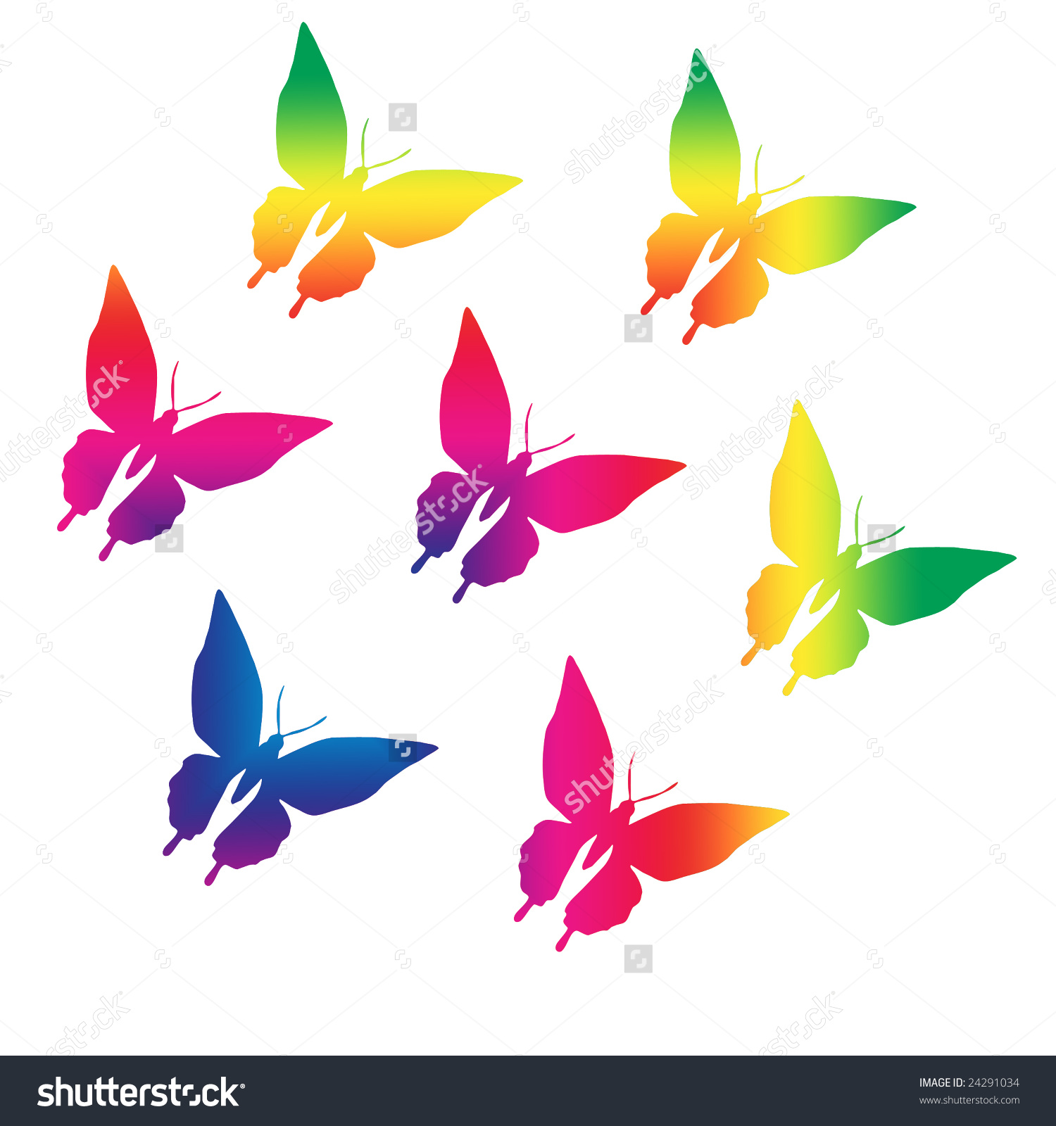 Rainbow Butterfly clipart #17, Download drawings