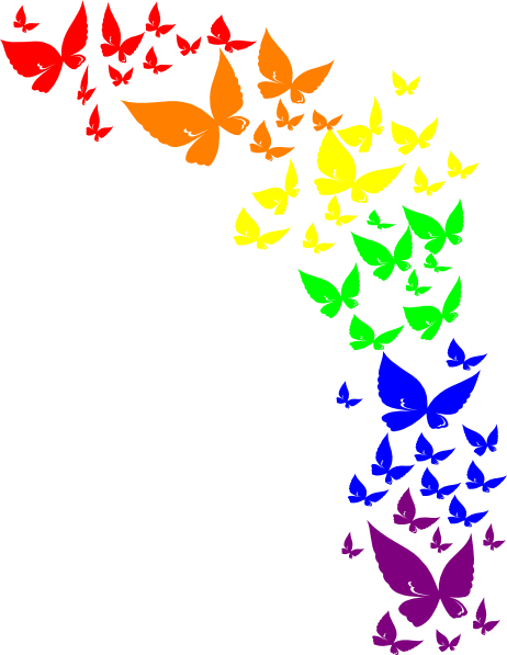 Rainbow Butterfly clipart #4, Download drawings