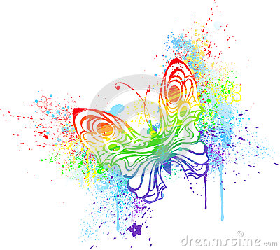 Rainbow Butterfly clipart #12, Download drawings