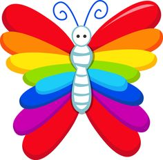 Rainbow Butterfly clipart #20, Download drawings