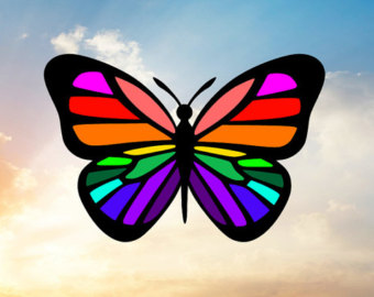 Rainbow Butterfly svg #8, Download drawings