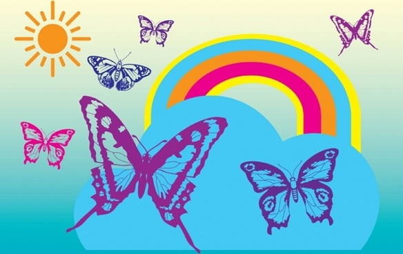 Rainbow Butterfly svg #6, Download drawings