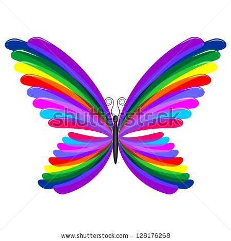 Rainbow Butterfly svg #15, Download drawings