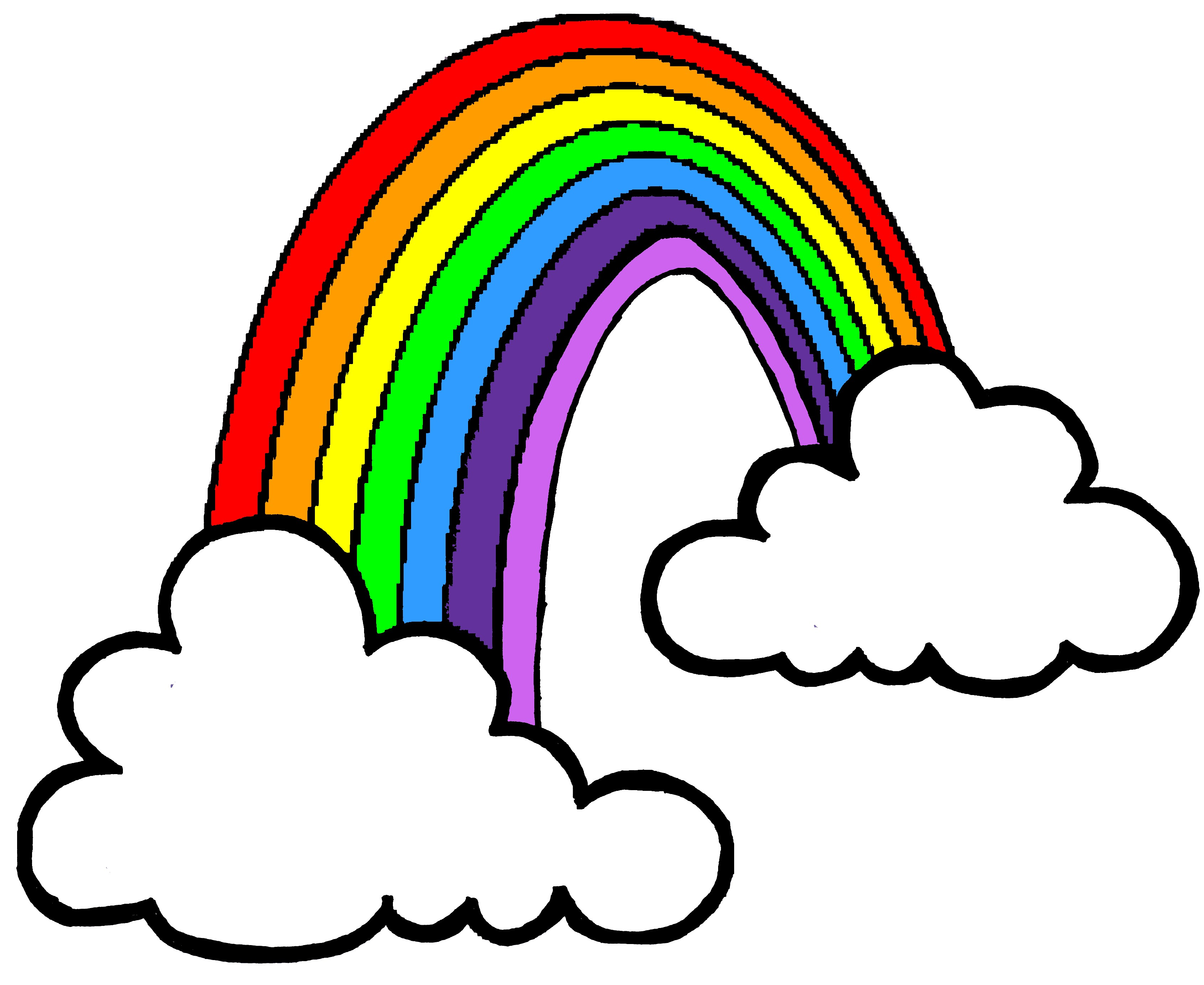 Rainbow clipart #3, Download drawings
