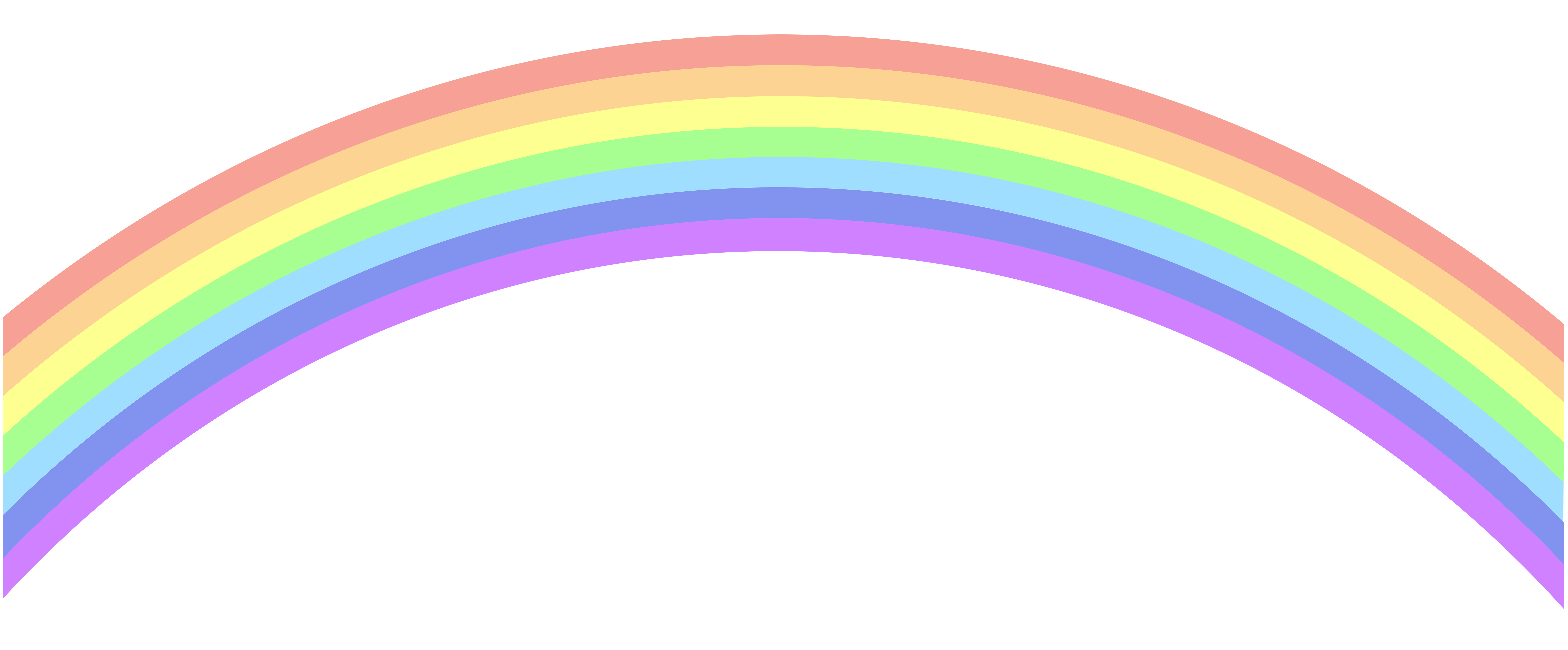 Rainbow clipart #2, Download drawings