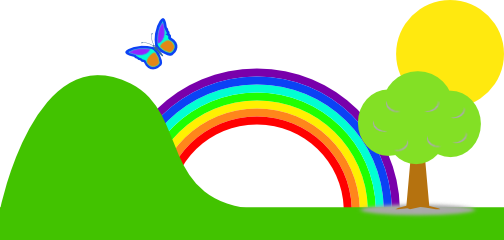 Rainbow clipart #14, Download drawings