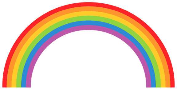 Rainbow clipart #1, Download drawings