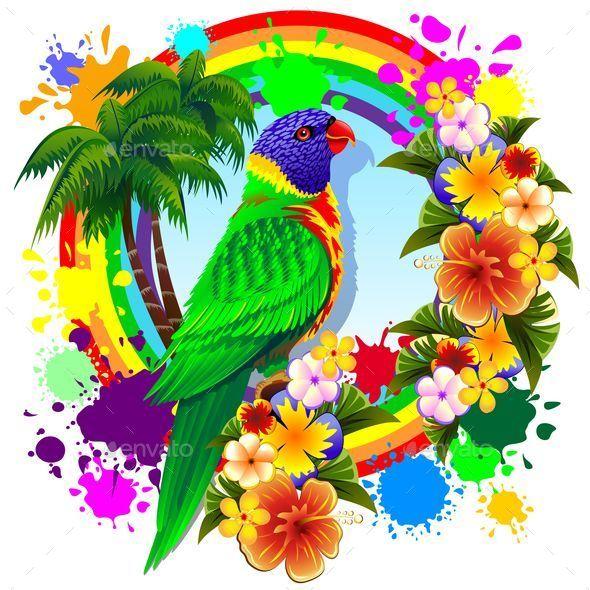 Rainbow Lorikeet svg #15, Download drawings
