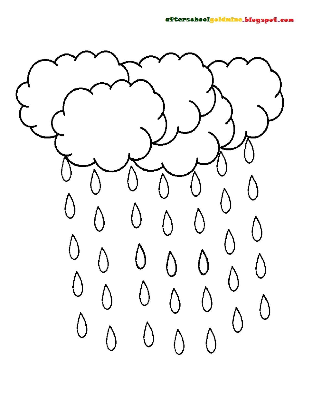 rain drop coloring pages - photo#28