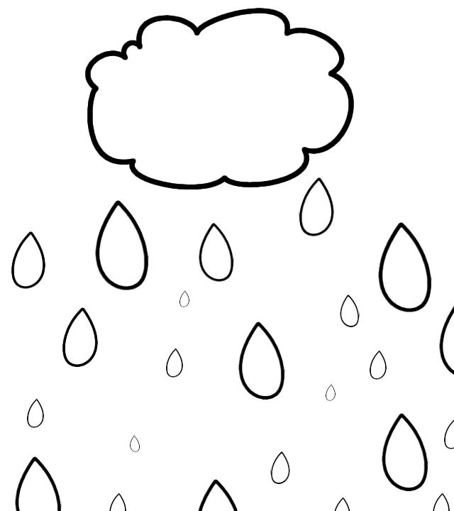 Rainfall coloring #20, Download drawings