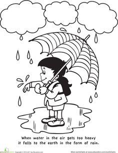 Rainfall coloring #11, Download drawings
