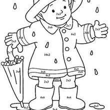 Rainfall coloring #8, Download drawings