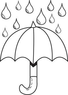 Rainfall coloring #1, Download drawings