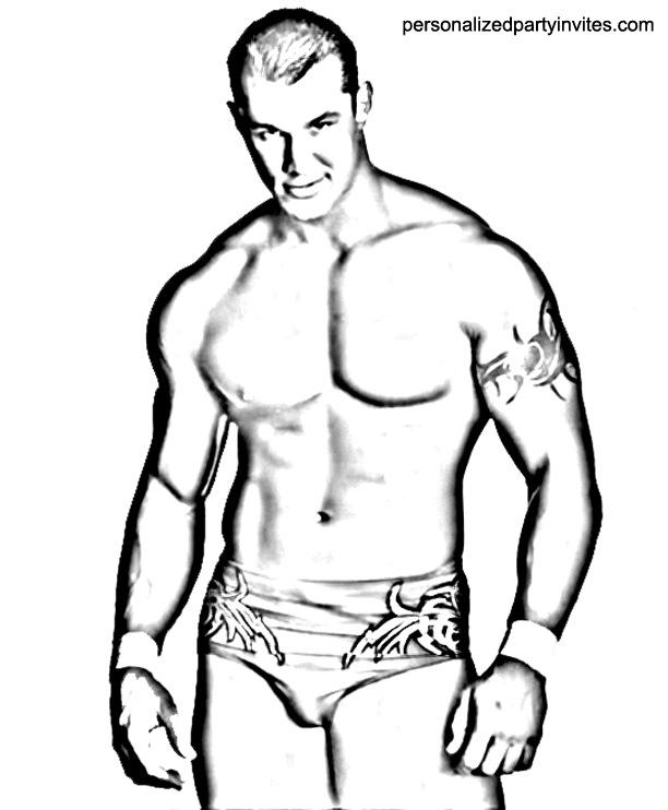 Randy Orton coloring #20, Download drawings