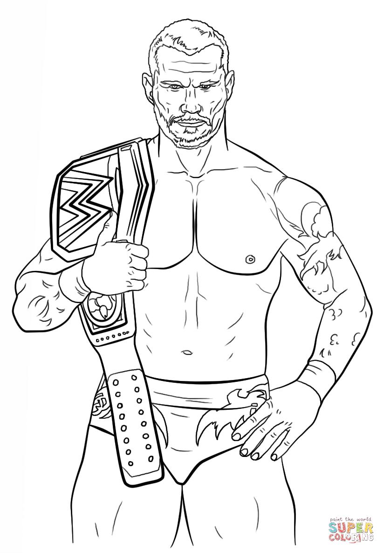 Randy Orton coloring #11, Download drawings