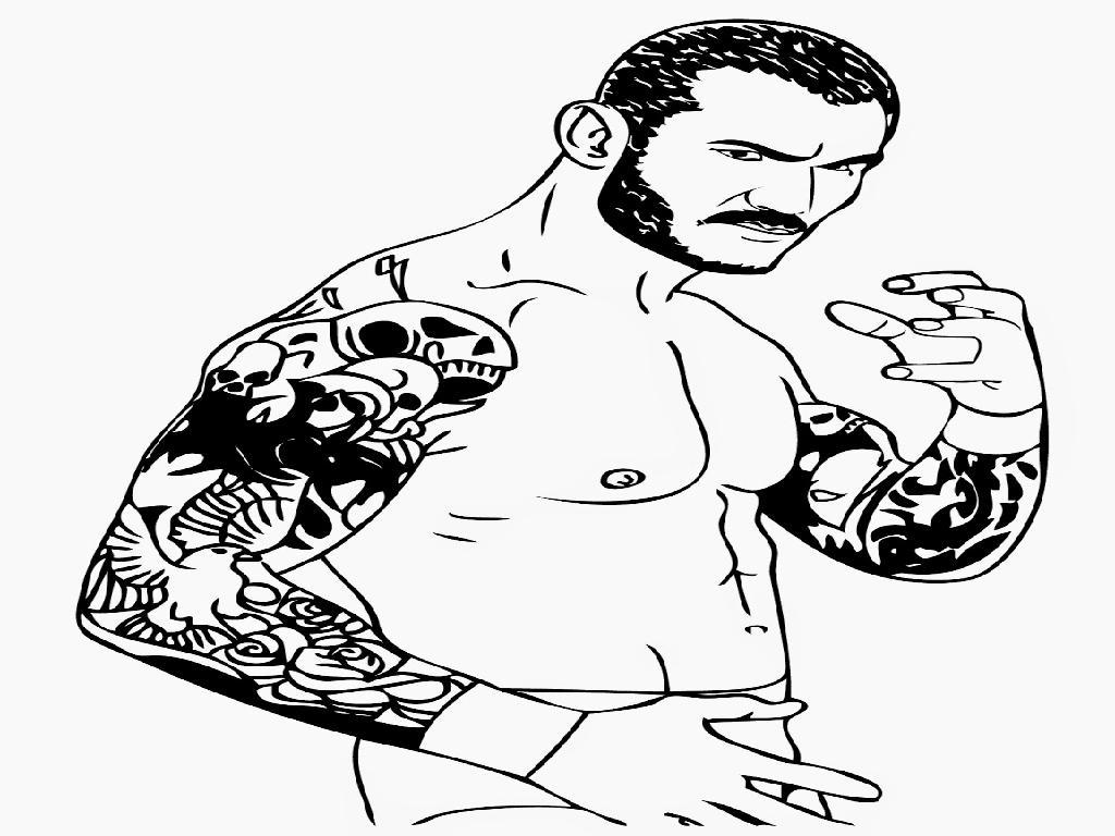 Randy Orton coloring #8, Download drawings