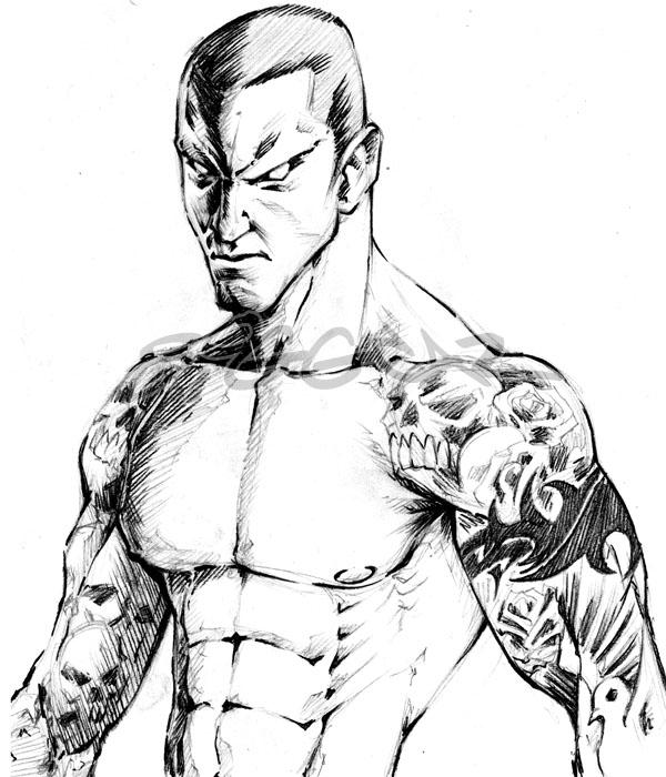 Randy Orton coloring #9, Download drawings