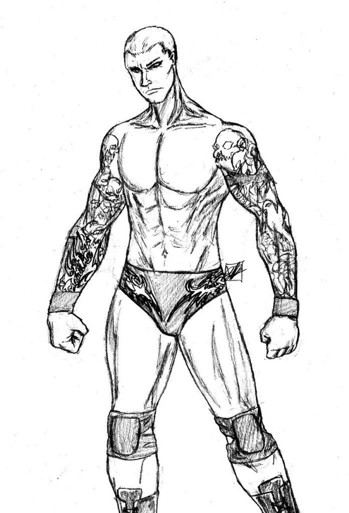 Randy Orton coloring #19, Download drawings