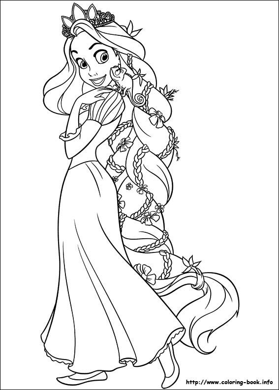 Rapunzel coloring #19, Download drawings