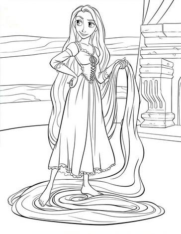 Rapunzel coloring #7, Download drawings